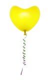 Hart gevormde ballon en wimpel stock foto's