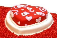 Hart Gevormde Cake Stock Foto's
