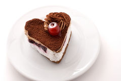Hart gevormde cake Royalty-vrije Stock Foto