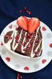 Hart Gevormde Cake Stock Afbeelding