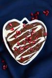 Hart Gevormde Cake Stock Foto