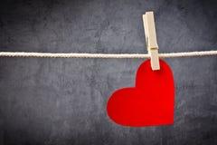 Hart gevormde de Dagkaart van Valentine royalty-vrije stock afbeeldingen