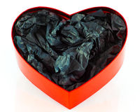 Hart gevormde giftdoos Stock Afbeelding