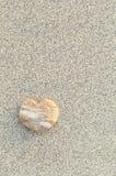 Hart Gevormde Kiezelsteen op het Strand Royalty-vrije Stock Foto's