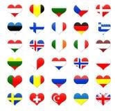 Hart gevormde knopen van Europa royalty-vrije illustratie