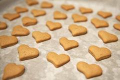 Hart gevormde koekjes Stock Afbeelding