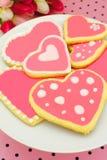 Hart gevormde koekjes Royalty-vrije Stock Afbeeldingen