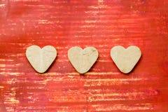 Hart gevormde koekjes royalty-vrije stock afbeelding