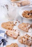 Hart gevormde koekjes royalty-vrije stock foto's