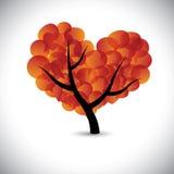Hart gevormde liefdeboom met de pictogrammen van toespraakbellen - vector vector illustratie
