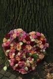 Hart gevormde sympathiebloemen stock afbeelding