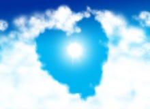 Hart gevormde wolk Stock Foto