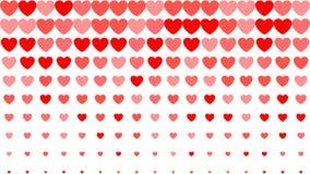 Hart halftone achtergrond Rode harten op witte achtergrond Vector illustratie De dekking van de de dagkaart van Valentine ` s Royalty-vrije Stock Foto's