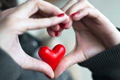 Hart in hart stock afbeelding