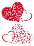 Hart in harten Royalty-vrije Stock Afbeeldingen