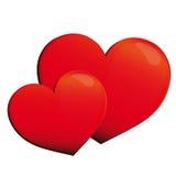 Hart, harten, rood, achtergrond Royalty-vrije Stock Afbeelding
