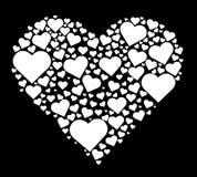 Hart in hartvector Stock Foto