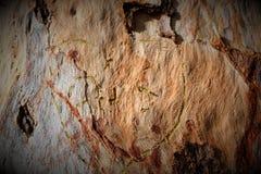 Hart in hout stock fotografie