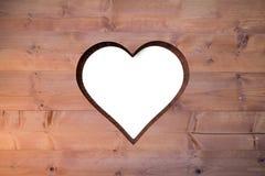 Hart in hout wordt verwijderd dat Royalty-vrije Stock Foto