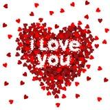 Hart I houdt van u Stock Afbeeldingen
