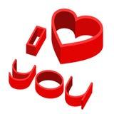 Hart I houdt vector van u Stock Fotografie