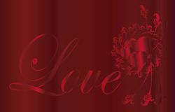 Hart   Ik houd van u ontwerp Royalty-vrije Stock Fotografie