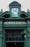 Hart Inn Pub bianco a Edimburgo fotografia stock libera da diritti