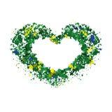 Hart, kader voor tekst, olors Ñ  van de Braziliaanse vlag royalty-vrije illustratie