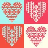 Hart, liefde, ornament, patroon vector illustratie