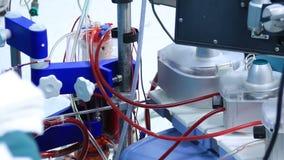 Hart-long machine voor hartchirurgie stock videobeelden