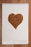 Hart of love on notebook Stock Photography