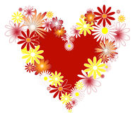 Hart met bloemen. Stock Foto's