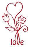 Hart met bloemen Royalty-vrije Stock Foto's