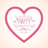 Hart met inschrijving in zachte roze tonen Stock Fotografie