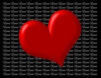 Hart met Liefde vector illustratie