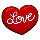 Hart met Liefdebericht Stock Foto