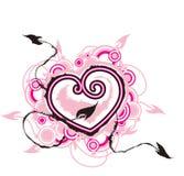 Hart met pijlen van liefde Stock Afbeelding