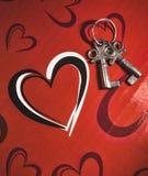 Hart met sleutels Royalty-vrije Stock Afbeelding