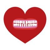 Hart met tanden Royalty-vrije Stock Foto's