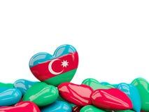Hart met vlag van azerbaijan stock illustratie