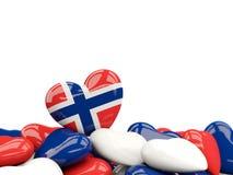 Hart met vlag van Noorwegen vector illustratie