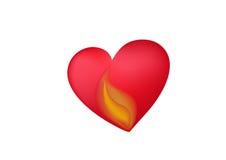 Hart met vlam Stock Afbeeldingen