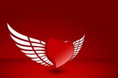 Hart met vleugel stock illustratie