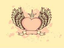 Hart met vleugels Stock Afbeeldingen
