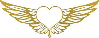 Hart met vleugels Vector Illustratie