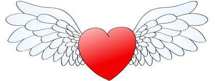 hart met engelachtige vleugels stock foto s 14 hart met