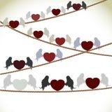 Hart met vleugels Stock Foto's