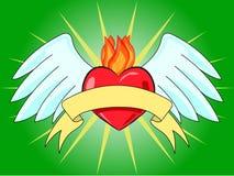 Hart met vleugels stock illustratie