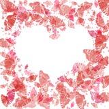 hart met vlinders stock illustratie
