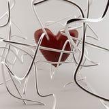 Hart in metaalbuizen Stock Foto